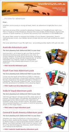 Travel Brochures Email Artwork