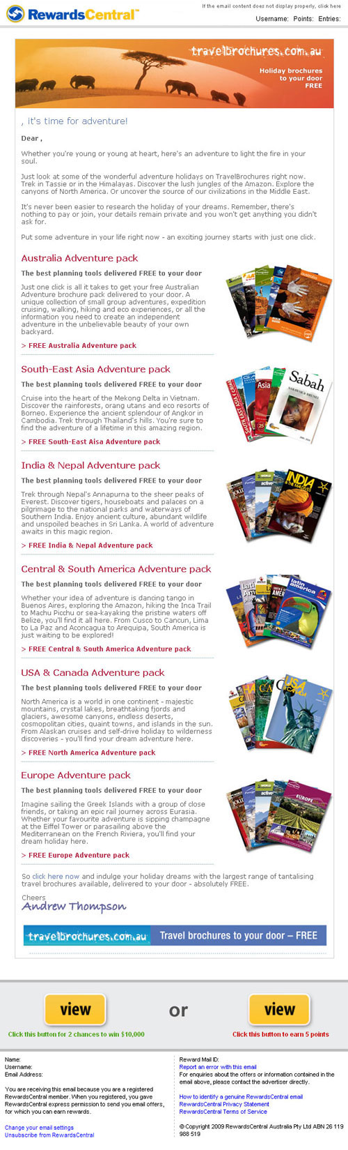 Travel Brochures - Clients - Why PermissionCorp